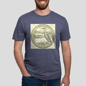 Delaware Quarter 2015 Basic Mens Tri-blend T-Shirt