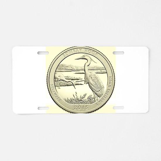 Delaware Quarter 2015 Basic Aluminum License Plate