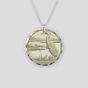 Delaware Quarter 2015 Basic Necklace Circle Charm
