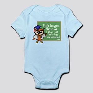 Math Teacher Infant Bodysuit