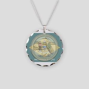 Delaware Quarter 2015 Necklace Circle Charm