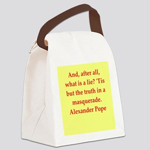 pope2 Canvas Lunch Bag