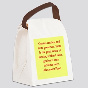 pope3 Canvas Lunch Bag
