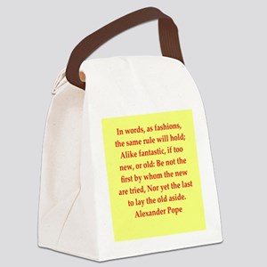 pope4 Canvas Lunch Bag