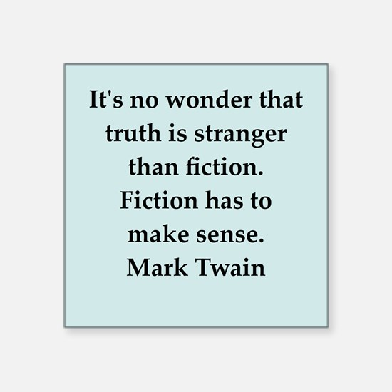 "twain13.png Square Sticker 3"" x 3"""