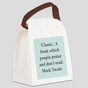 twain5 Canvas Lunch Bag
