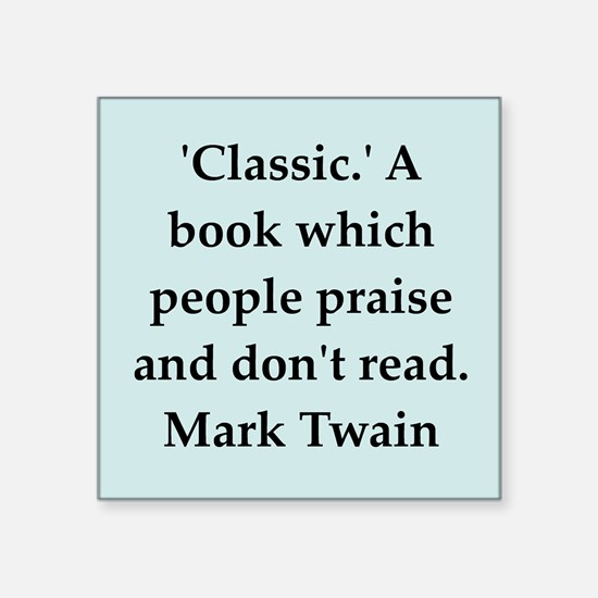 "twain5.png Square Sticker 3"" x 3"""