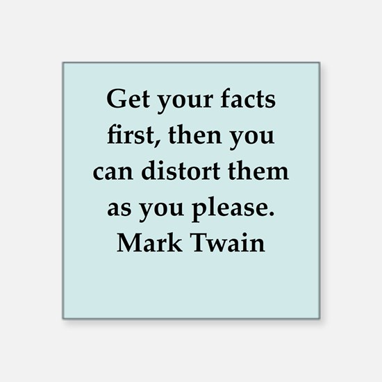"twain9.png Square Sticker 3"" x 3"""