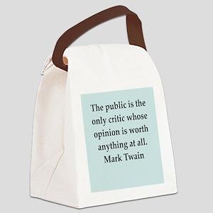 twain19 Canvas Lunch Bag
