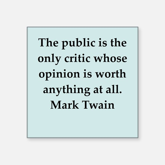 "twain19.png Square Sticker 3"" x 3"""