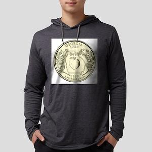 Georgia Quarter 1999 Basic Mens Hooded Shirt