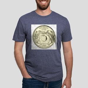 Georgia Quarter 1999 Basic Mens Tri-blend T-Shirt