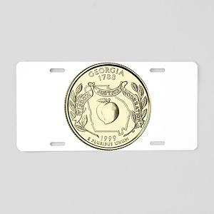 Georgia Quarter 1999 Basic Aluminum License Plate