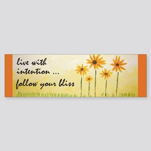 Live With Intention Bumper Sticker