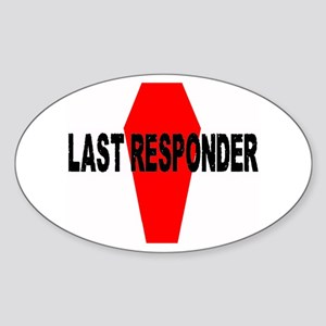 LAST RESPONDER Oval Sticker