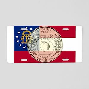Georgia Quarter 1999 Aluminum License Plate