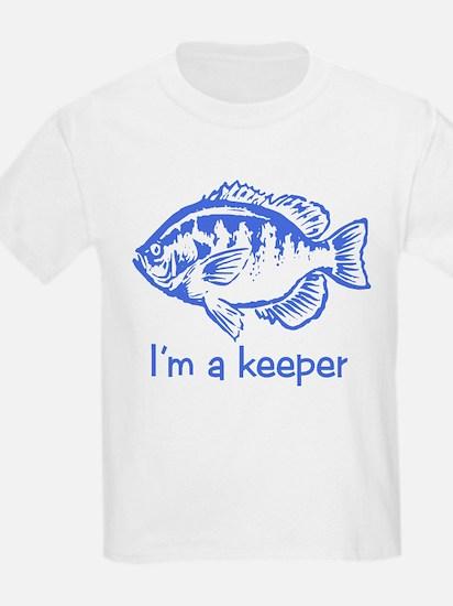 I'm a keeper (blue) Kids T-Shirt
