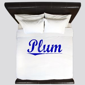 Plum, Blue, Aged King Duvet