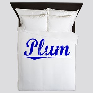 Plum, Blue, Aged Queen Duvet