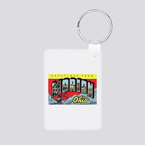 Marion Ohio Greetings Aluminum Photo Keychain