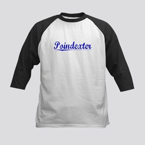 Poindexter, Blue, Aged Kids Baseball Jersey