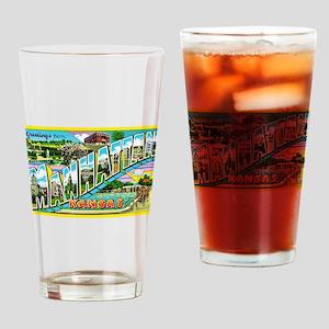 Manhattan Kansas Greetings Drinking Glass