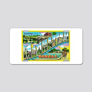 Manhattan Kansas Greetings Aluminum License Plate