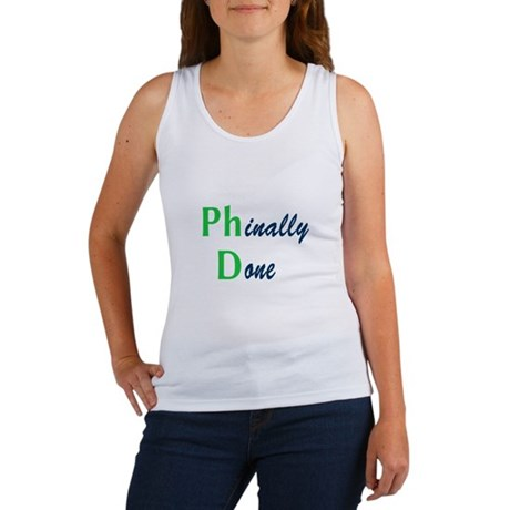 Phinally Done Green Women's Tank Top