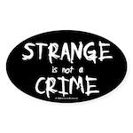 Strange Oval Sticker