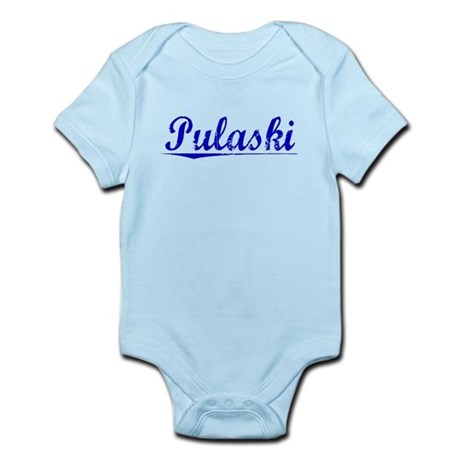 Pulaski, Blue, Aged Infant Bodysuit