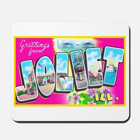 Joliet Illinois Greetings Mousepad