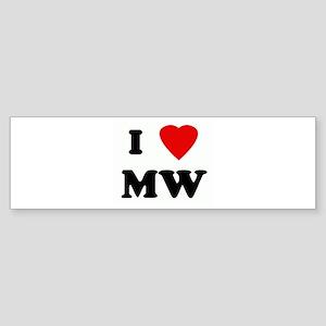 I Love MW Bumper Sticker