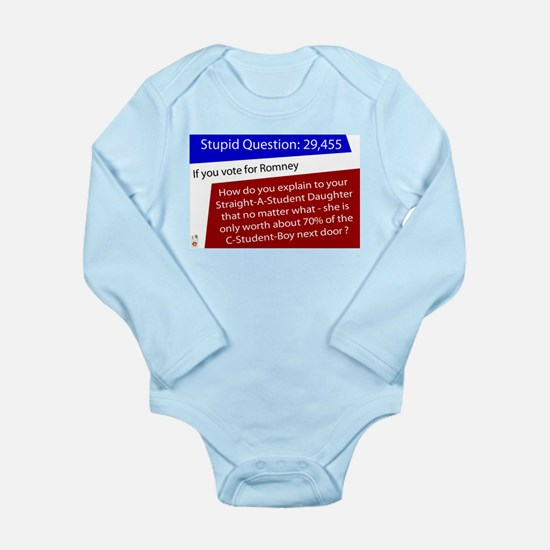 What is your Daughter Worth? Long Sleeve Infant Bo