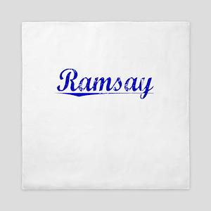 Ramsay, Blue, Aged Queen Duvet