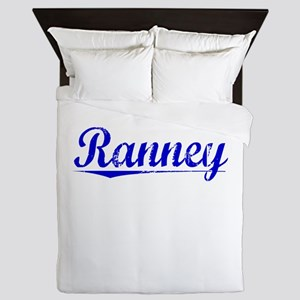 Ranney, Blue, Aged Queen Duvet