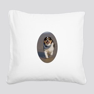 Flying Corgi Square Canvas Pillow