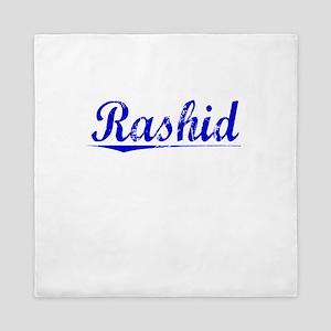Rashid, Blue, Aged Queen Duvet