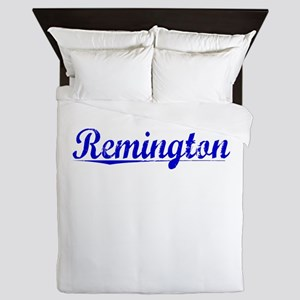 Remington, Blue, Aged Queen Duvet