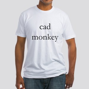 cad monkey Fitted T-Shirt