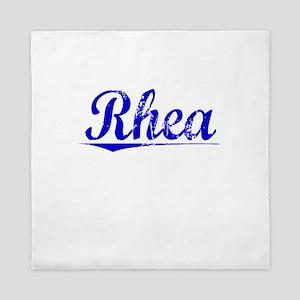 Rhea, Blue, Aged Queen Duvet