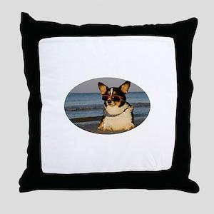 Boy Watching Throw Pillow