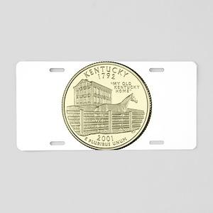 Kentucky Quarter 2001 Basic Aluminum License Plate