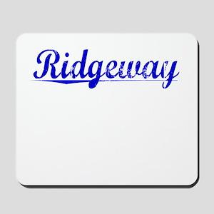 Ridgeway, Blue, Aged Mousepad