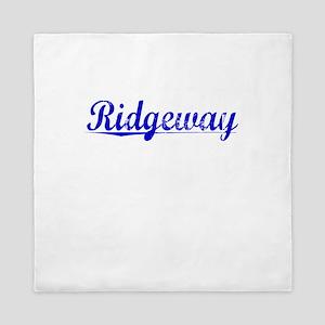 Ridgeway, Blue, Aged Queen Duvet