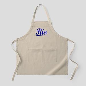 Rio, Blue, Aged Apron
