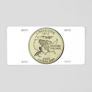 Louisiana Quarter 2002 Basic Aluminum License Plat
