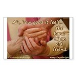 The Hand of an Old Friend Sticker (Rectangle 10 pk