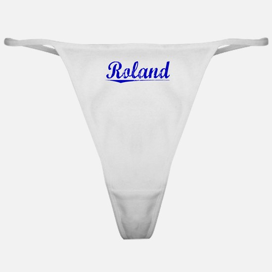 Roland, Blue, Aged Classic Thong