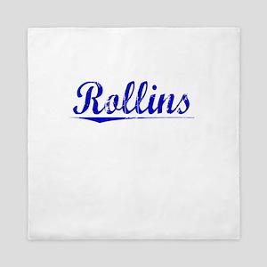 Rollins, Blue, Aged Queen Duvet