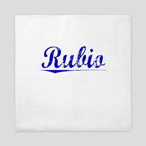 Rubio, Blue, Aged Queen Duvet